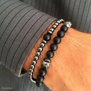 Other - Hematite & Black Onyx Bracelet Set